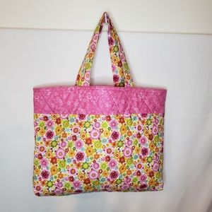 Hand made tote bag farmers market carry all